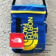 Túi đeo chéo The North Face BC Fuse Box Pounch màu xanh dương logo cam