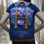 Balo JANSPORT LAPTOP BACKPACK MÀu đen logo hoa