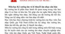 Ký xướng âm và lý thuyết âm nhạc căn bản