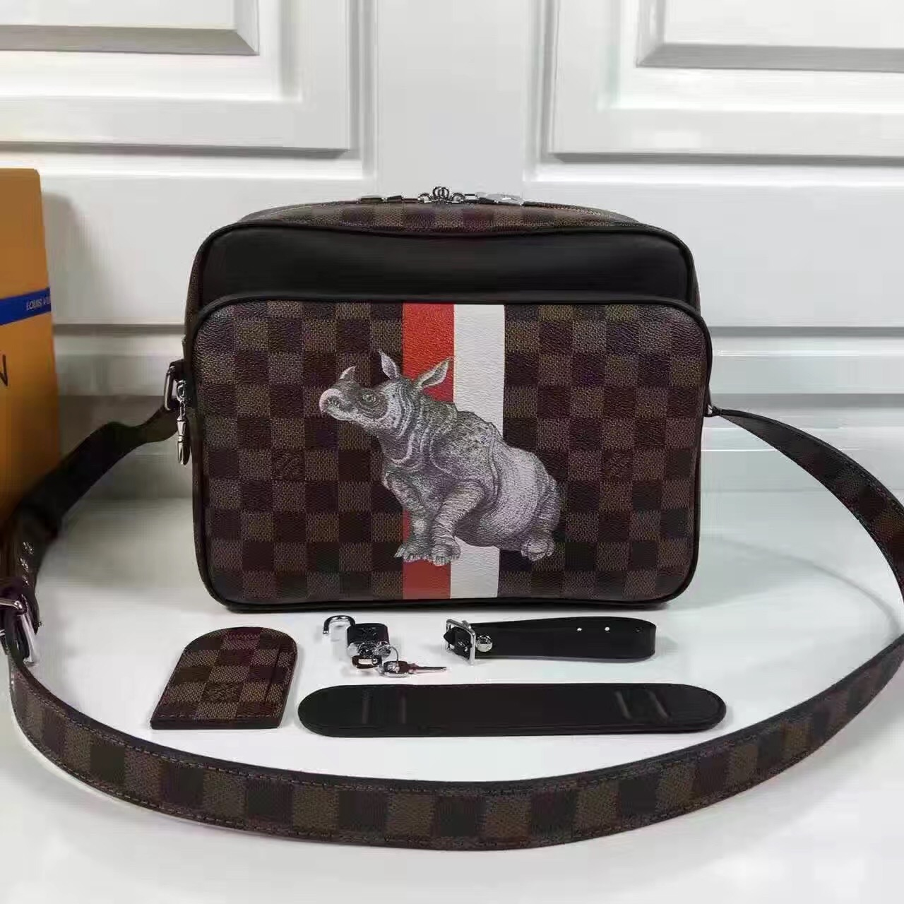 Túi Xách Louis Vuitton Damier Canvas NIL PM Bag-N42704-TXLV072