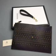 Túi Xách Gucci Studded Leather Pouch-451178- TXGC001