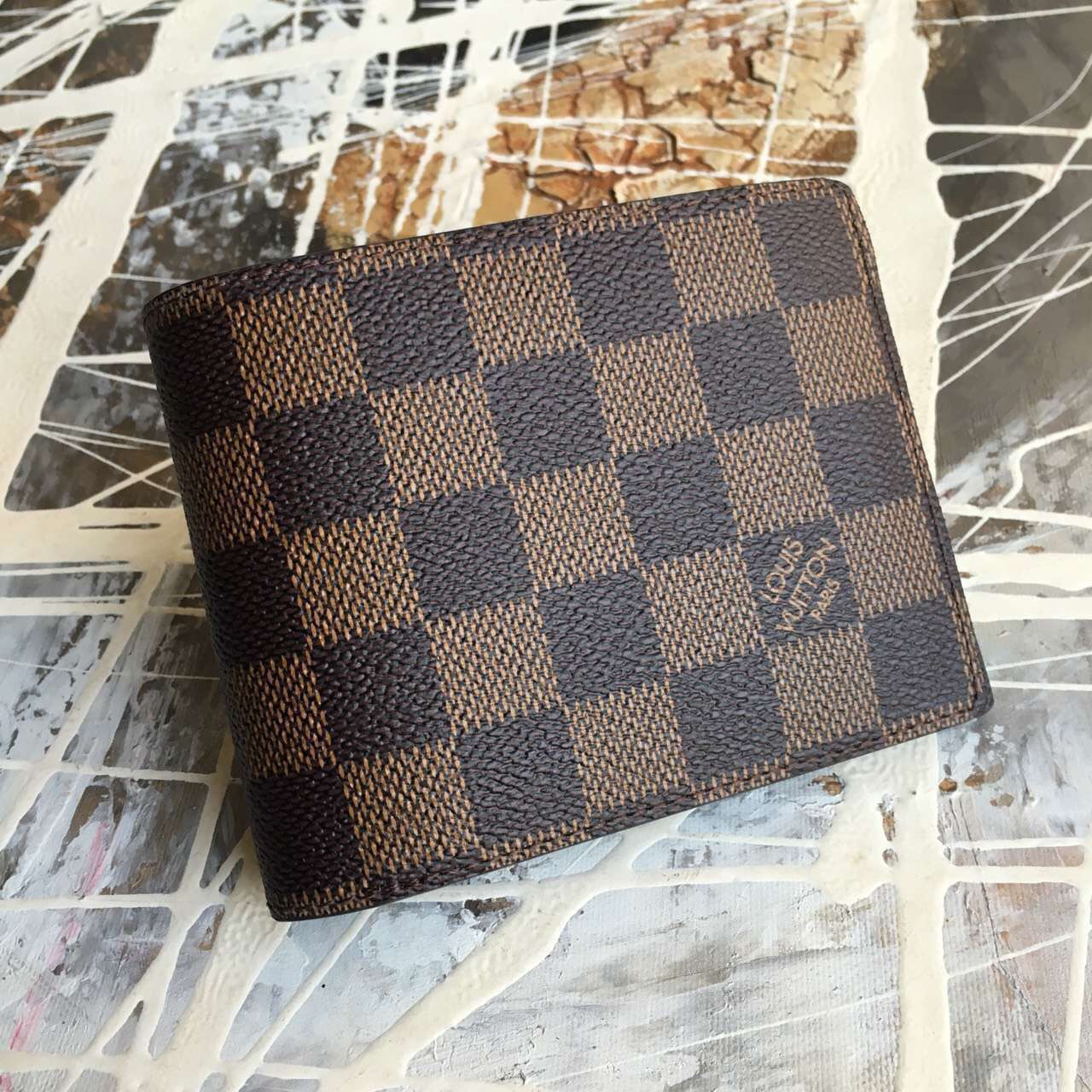Louis vuitton Damier Azur canvas Multiple Wallet-N60895-VNLV158