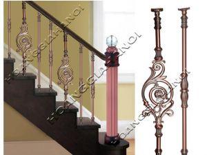 Cầu thang lan can bằng đồng thau