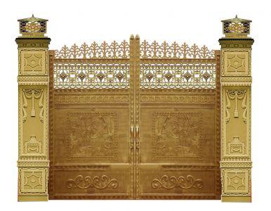 Thi công cổng đồng đúc tại Bình Định