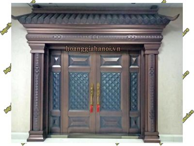 Thi công cổng đồng đúc tại Phú Thọ