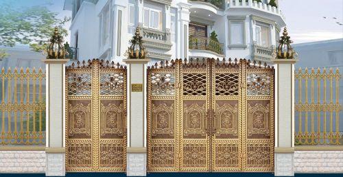 Thi công cổng đồng đúc tại Quảng Ninh