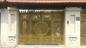 Thi công cổng đồng đúc tại Yên Bái