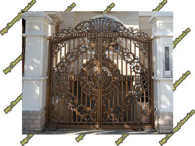 Cổng nhôm đúc Art Nouveau cho chốn bình yên