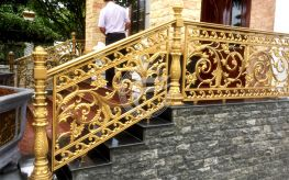 Cầu thang đẹp đẳng cấp bằng nhôm đúc và đồng đúc