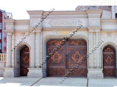 Cổng nhôm đúc-Trống đồng cổ xưa