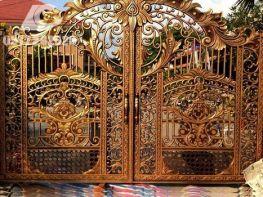 Mẫu cửa cổng nhôm đúc đẹp và đẳng cấp nhất