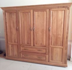 Tủ gỗ sồi Mỹ theo thiết kế