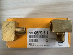 Đầu nối bằng đồng có ren PARKER, P/N: 245IFHD-6-4