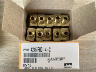 Đầu nối bằng đồng có ren PARKER, P/N: 245IFHD-4-2