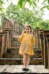 Đầm Bèo Hoa Vàng Xinh Yêu Cho Bé NX0586