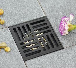 Phễu Thoát Sàn Chống Mùi Black Series 12cm NX572-1B