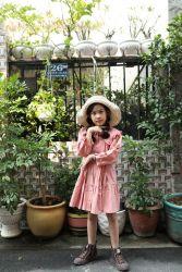 Đầm Cổ Bèo Đuôi Cá Xinh Yêu Cho Bé NX3031