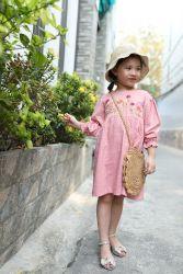 Váy Tay Bồng Thêu Tay Thương Hiệu Rabbit Pham NX3034