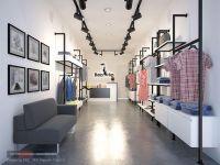Thiết kế, thi công nội thất trọn gói shop quần áo tại Vinh, Nghệ An
