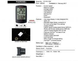 Đồng hồ Cateye Padrone + CC-PA110W
