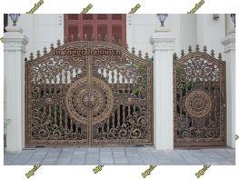 Sản xuất cổng nhôm đúc - Nhôm đúc Hoàng Gia