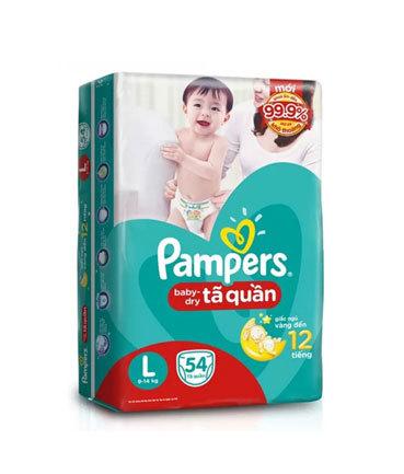 Bỉm Pamper UK - số 2 dán (4 - 8kg) 54 miếng