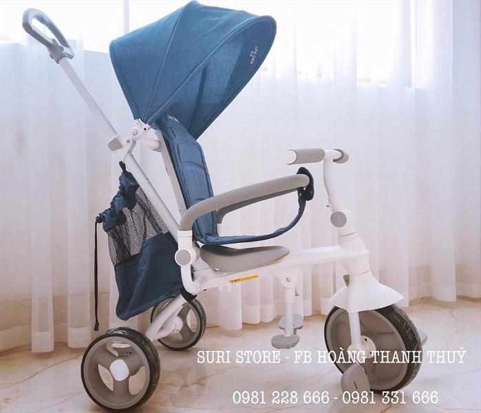 Xe đẩy 3 bánh Whiz Bebe màu xanh