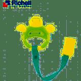 Xúc xắc gặm nướu tròn có dây đeo rùa xanh Richell RC50341