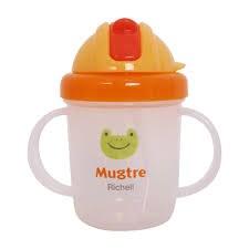 Cốc tập uống có ống hút siêu mềm Mugtre Richell Cái
