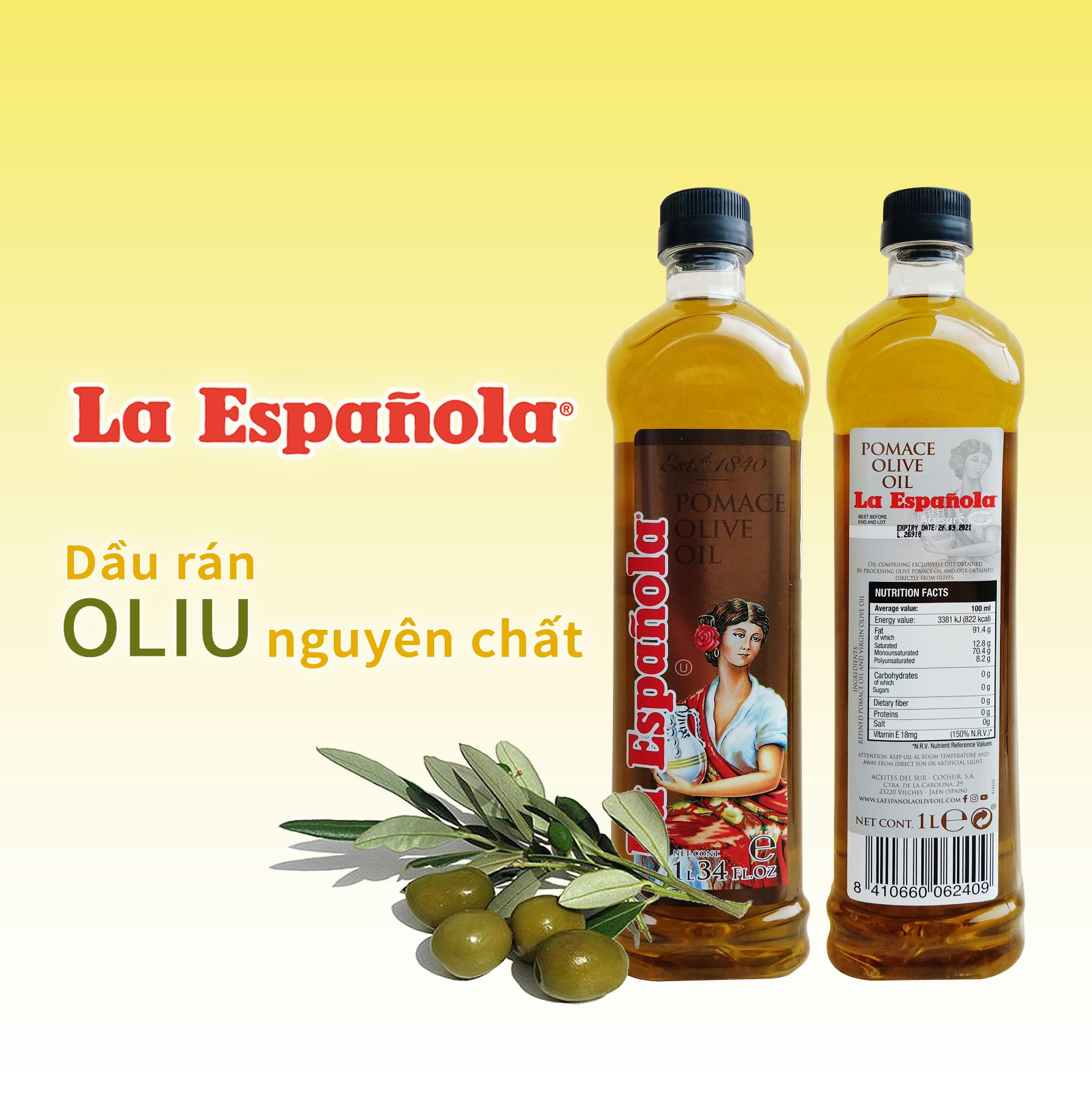 Dầu rán Oliu Pomace La Espanola 1L