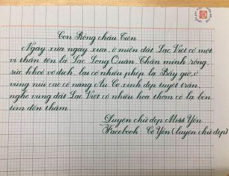 Luyện chữ đẹp Hải Yến