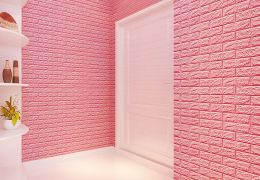 Tân trang nhà với xốp dán tường 3D