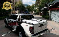 Nắp Thùng Xe Ford Ranger - Mẫu Giả Khung Wildtrak 45 độ