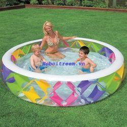 Bể bơi phao tròn sắc màu