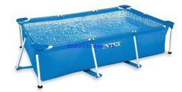 Hồ chơi chữ nhật khung kim loại Intex 28272
