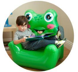 Ghế hơi Ếch xanh cho bé Intex 68596