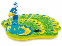 Phao bơi chim Công khổng lồ INTEX 57250 tặng kèm bơm điện