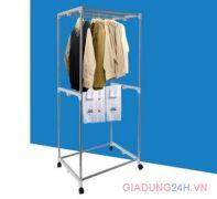 Tủ sấy quần áo Panasonic có điều khiển và tia UV khung gấp