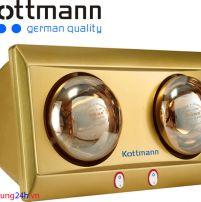 Đèn sưởi nhà tắm Kottmann 2 bóng K2B-Y