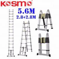 Thang nhôm rút chữ A cao cấp KOSMO 5.6m