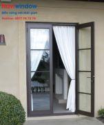 Cửa nhôm eurovn: cửa đi 2 cánh mở