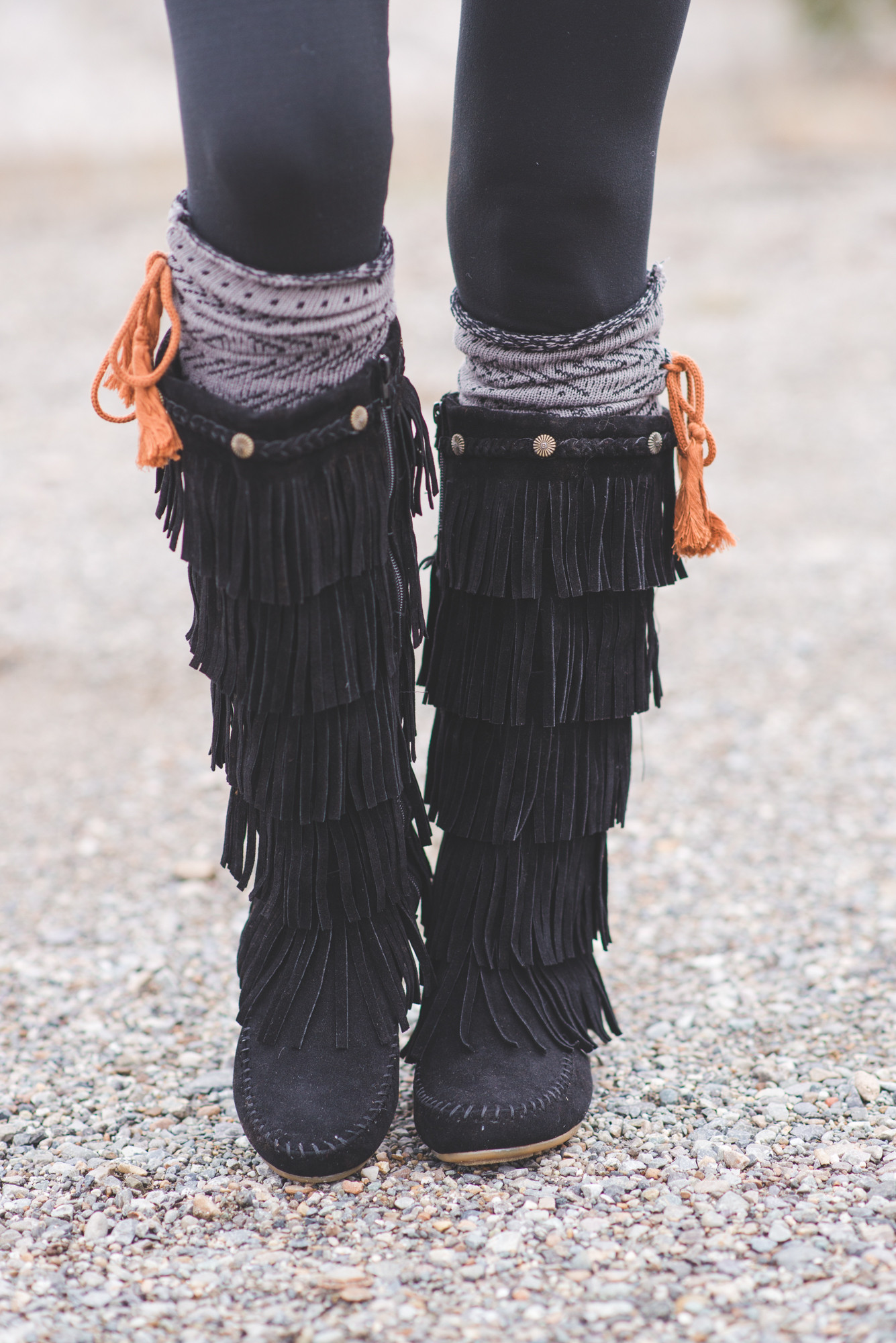 BOHEMIAN BRAIDED STUD MOCCASIN BOOTS