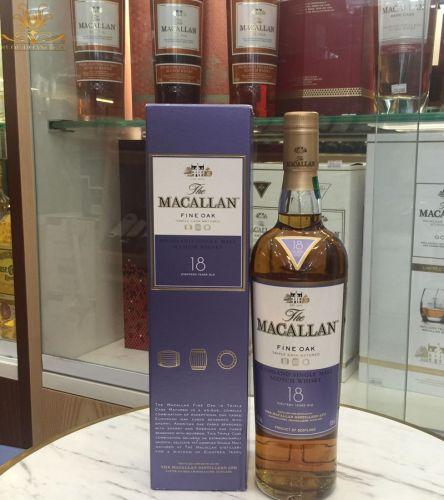 Rượu Macallan 18 nhạt