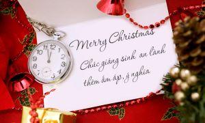 Tìm hiểu những lời chúc Giáng sinh ngọt ngào nhất