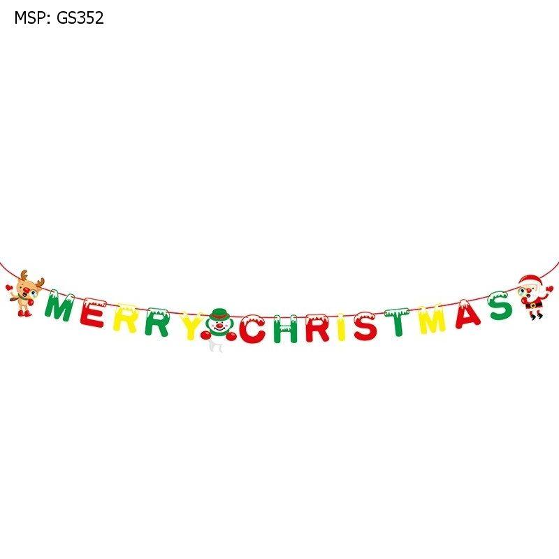 Dây treo trang trí chữ Merry Christmas