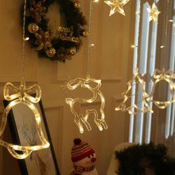 Rèm đèn led Giáng sinh