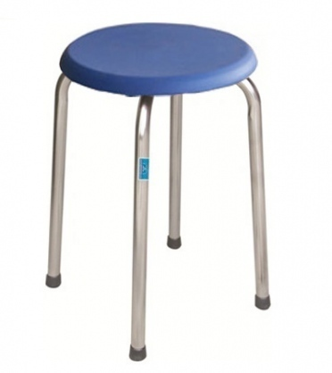 Ghế đôn chân mạ, đệm nhựa Hòa Phát GD01M-N
