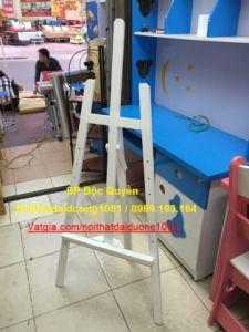 Giá vẽ, giá vẽ tranh , giá gỗ cỡ nhỡ GV02T màu Trắng