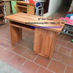 Bàn vi tính BVT12Min, bàn làm việc gỗ melamin màu Xoan Đào