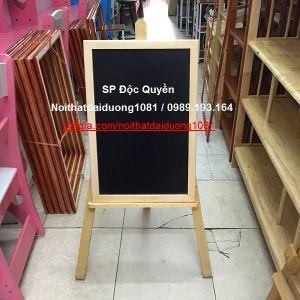 Giá vẽ cho bé GVB46, giá vẽ gỗ bé + bảng đen 40x60